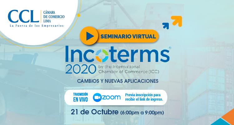 SEMINARIO DE INCOTERMS 2020: CAMBIOS Y NUEVAS APLICACIONES – OCTUBRE 2020