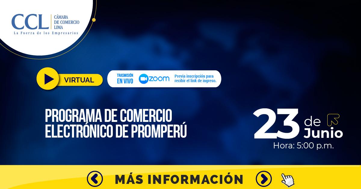 PROGRAMA DE COMERCIO ELECTRÓNICO DE PROMPERU