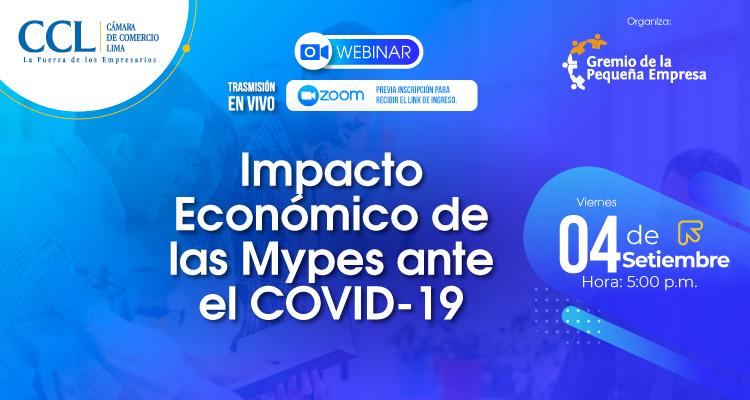 """Webinar COPE: """"Impacto Económico  para las Mypes ante el COVID-19"""""""