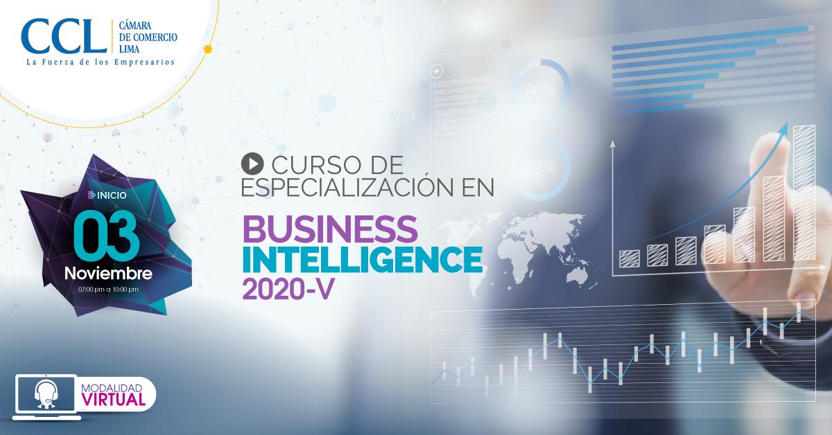 CURSO VIRTUAL DE ESPECIALIZACIÓN EN BUSINESS INTELLIGENCE 2020-V