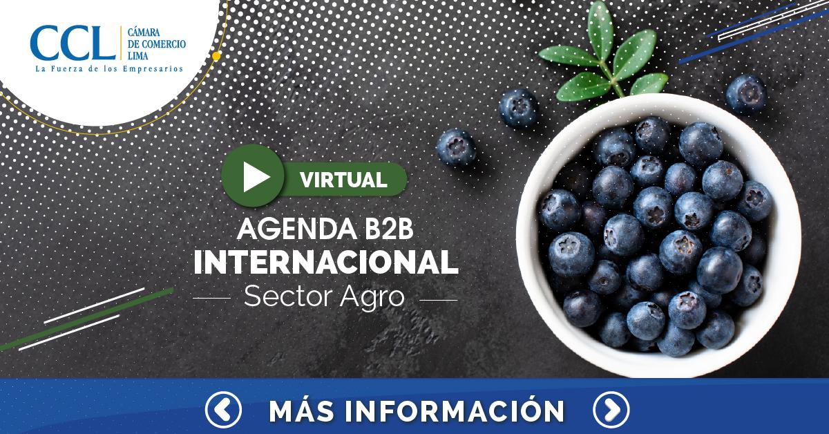 AGENDAMIENTO B2B INTERNACIONAL DEL SECTOR AGRO 2021