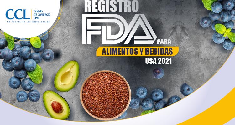 REGISTRO FDA PARA ALIMENTOS Y BEBIDAS 2021