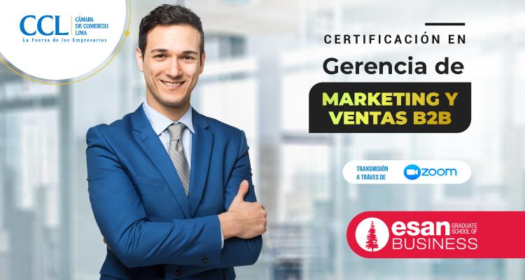 CERTIFICACIÓN: GERENCIA DE MARKETING Y VENTAS B2B