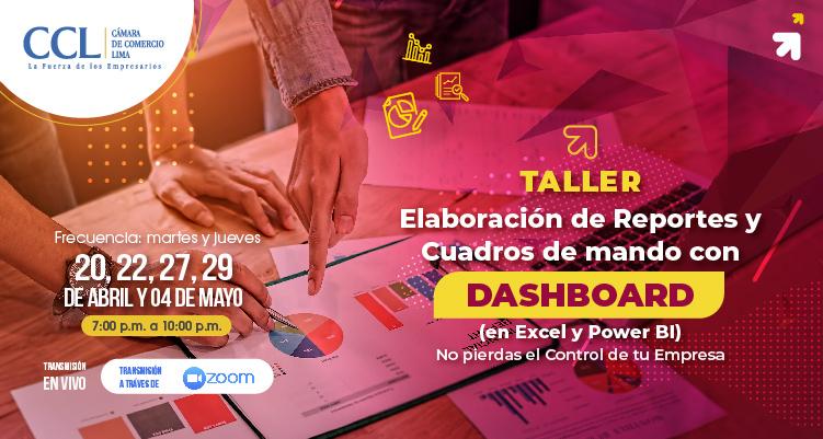 TALLER ELABORACIÓN DE REPORTES Y CUADROS DE MANDO CON DASHBOARD 2021