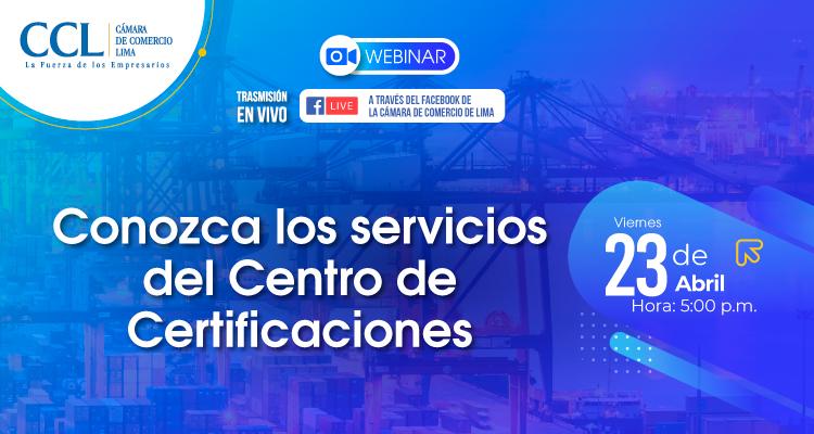 CONOZCA LOS SERVICIOS DEL CENTRO DE CERTIFICACIONES
