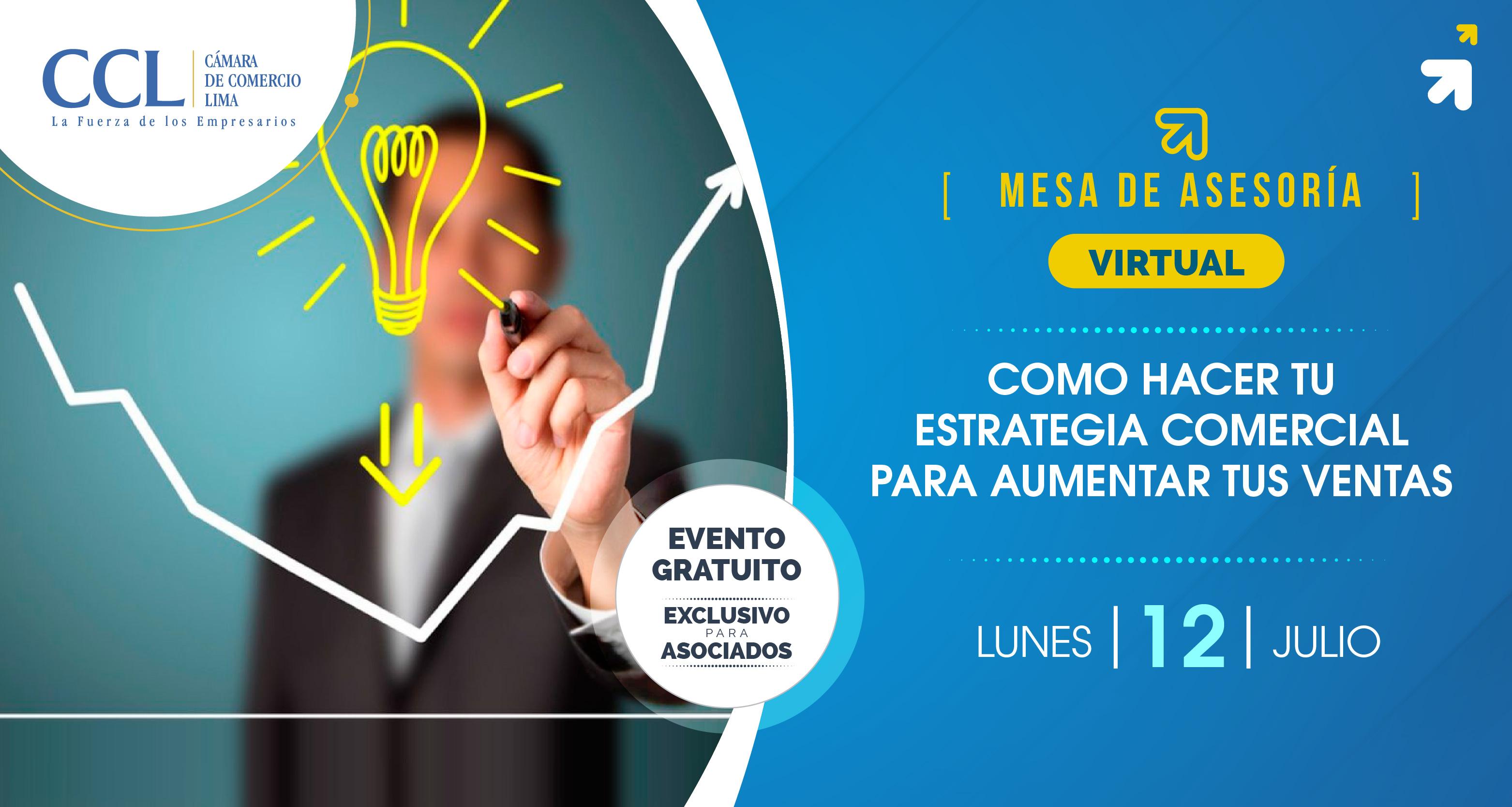 """Mesa de asesoría Virtual """"Como hacer tu estrategia comercial para aumentar tus ventas"""""""