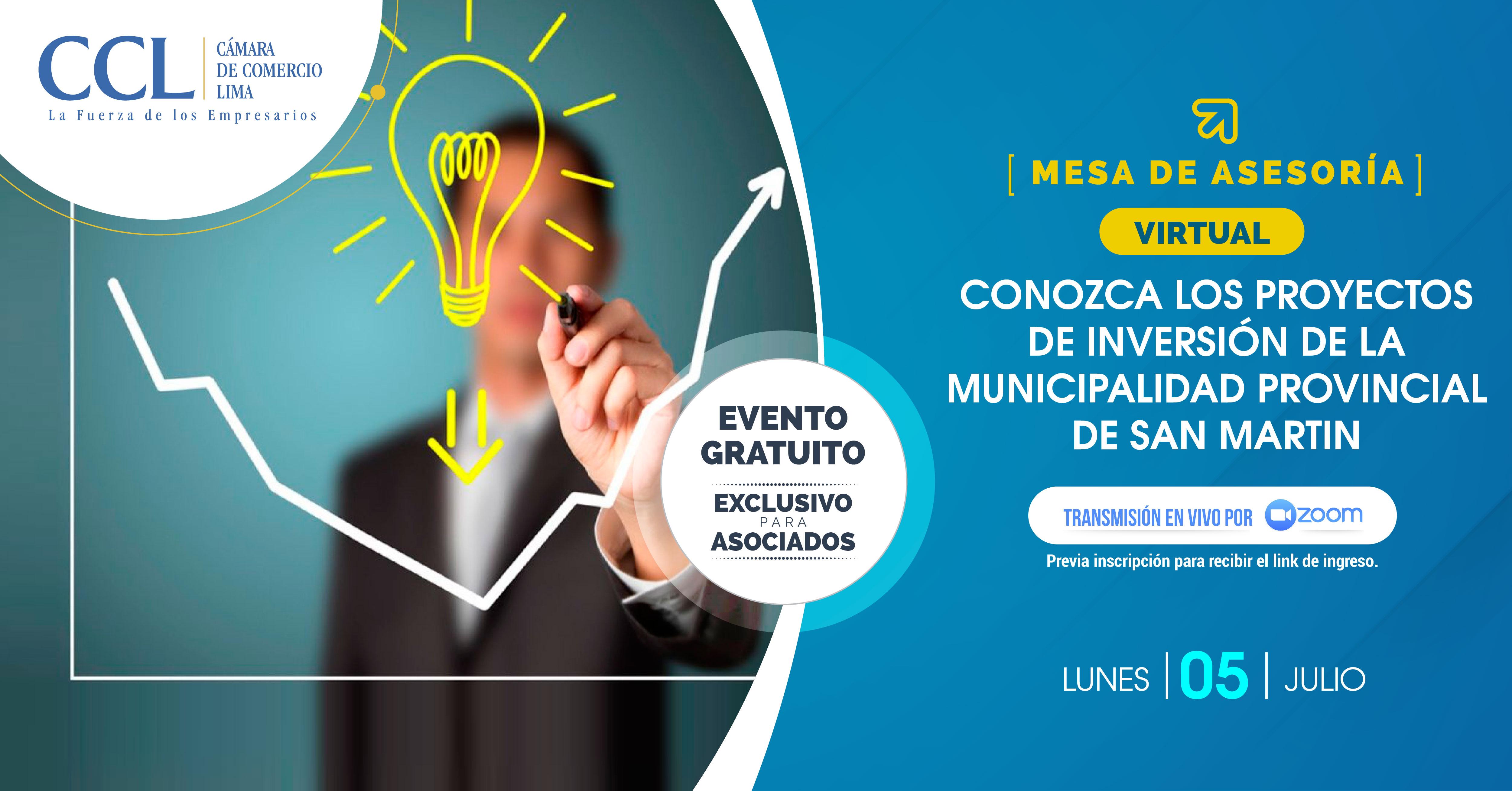 Conozca los proyectos de inversión de la Municipalidad Provincial de San Martin